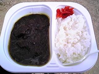 とある屋外@三重県志摩市で松阪牛の黒カレー