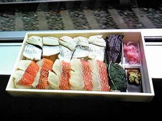 吟選あぶり金目鯛と小鯵押寿司